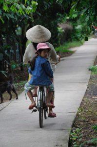 Back from school (Mekong delta, Vietnam)
