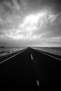 Road to nowhere (Negev desert, Israel)