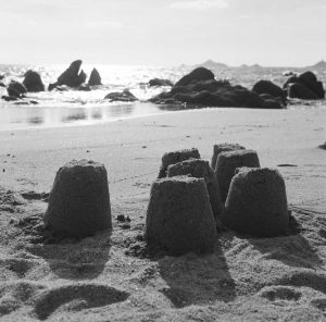 Sand castles (Ajaccio, France)