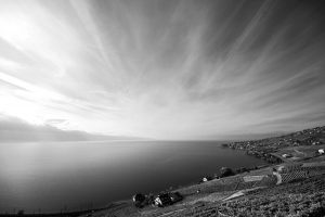 Striped sky (Lake Geneva, Switzerland)